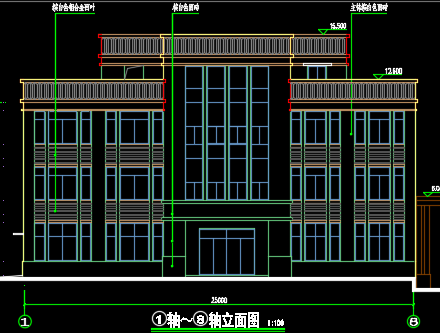 三层机关办公楼建筑施工图纸