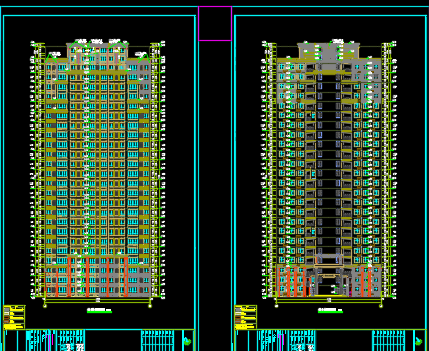 多栋塔式高层住宅及邻里中心建筑施工图(全套图纸)