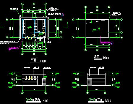 公共厕所建筑施工图(56平方米)