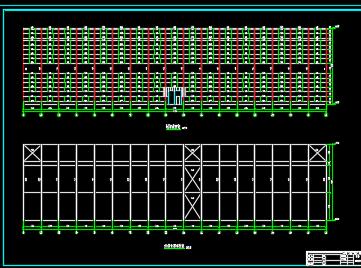 钢排架结构厂房设计图纸