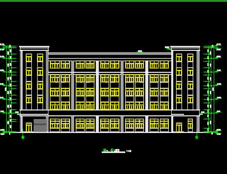 五层混凝土框架厂房建筑结构施工图纸