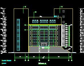 7层框架结构办公楼全套施工图纸(含建筑、结构、水电暖)