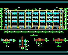 四层厂房建筑施工图纸