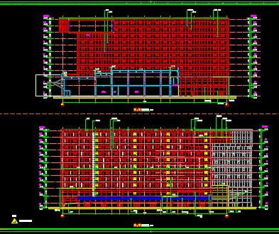 高层星级酒店及零售商业楼全套施工图纸(含香港六合开奖直播结构水电暖)