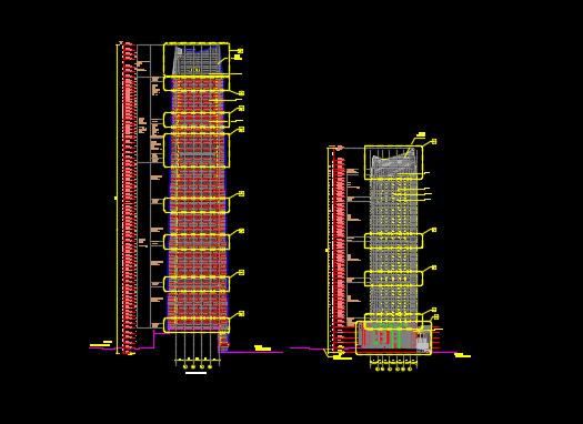 300米超高�幽持�名酒店�k公�C合施工�D�