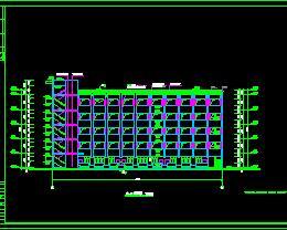 某大学五层框架结构教学楼建筑设计图纸