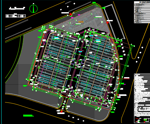 多层框架结构办公及仓库建筑施工图纸(含全专业)