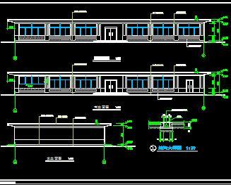 一层框架结构食堂建筑施工图纸