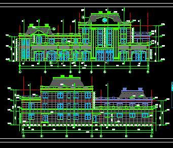 框剪住宅楼及商业楼全套施工图纸(含建筑结构水电)