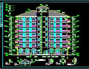 某七层法式宾馆建筑施工图纸