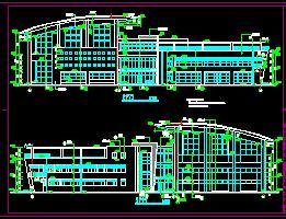 3层框架结构体育馆全套施工图纸(含香港六合开奖直播结构水电)