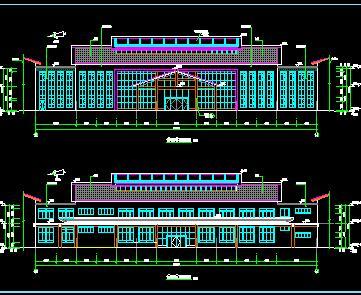 某养老院5栋建筑群施工图纸(公寓、餐厅及服务楼)