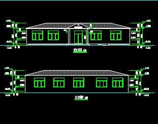 一层砖混结构活动中心建筑结构施工图纸