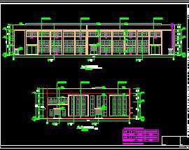 二层框架结构车间全套施工图纸(含建筑结构水电)