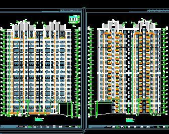 3栋18+1层商住楼建筑施工图纸