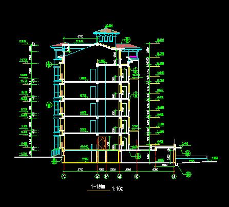 五层商品住宅扩初设计图纸