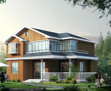 兩層獨棟鄉村別墅建筑設計圖紙