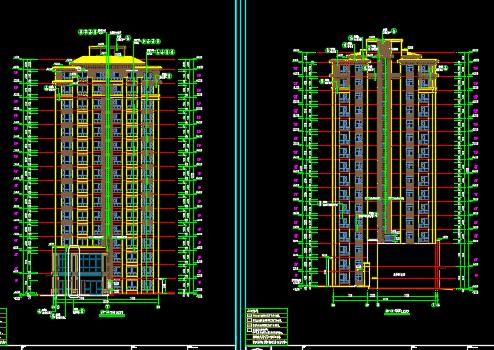 某小区剪力墙结构住宅楼建筑结构施工图纸(含地下停车场)