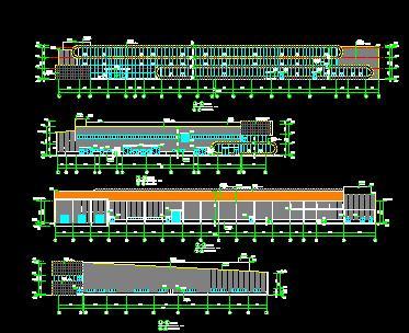 3层门式钢架结构厂房全套施工图纸(4887铁算盘结构水电)