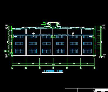 某轴承厂厂区建筑全套施工图纸(含厂房宿舍办公)