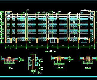某四层工业厂房建筑施工图纸