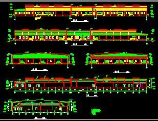 砖混排架混合结构车间建筑施工图纸