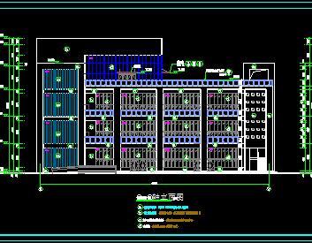 四层框架结构食堂全套施工图纸(建筑结构水电暖)