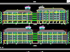 6层框架结构教学综合楼建筑施工图纸
