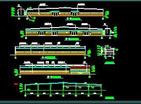 单层轻钢结构车间建筑施工图纸