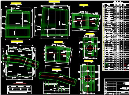 十余种镇墩配筋设计图纸
