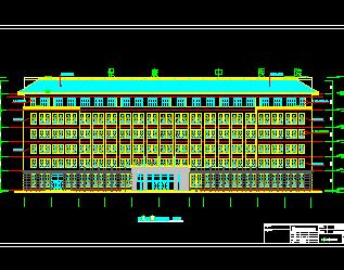 7层门诊住院综合楼全套施工图纸(建筑结构水电暖)