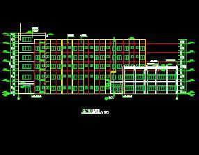 五层框架结构车间建筑施工图纸