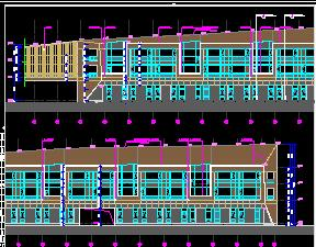 四层框架结构酒店全套施工图纸(建筑结构水电暖)