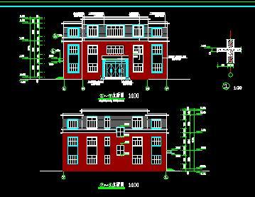 三层砌体结构办公楼建筑结构施工图纸