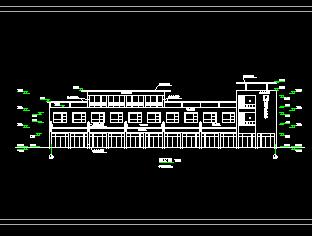 三层徽派商业楼建筑设计图纸