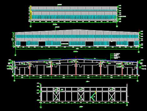某钢结构厂房建筑施工图