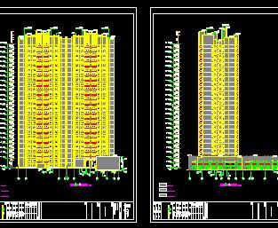 高层商业楼群及幼儿园全套施工图纸(建筑结构水电暖)