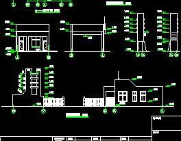 砖混结构门卫室建筑结构施工图纸