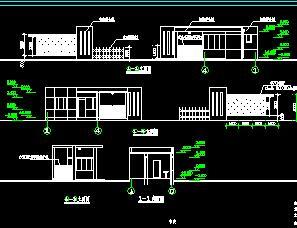 某厂区门卫室建筑施工图纸