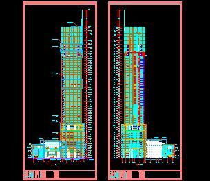 46层金融中心建筑施工图纸