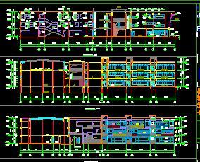 三层框架结构幼儿园建筑施工图纸