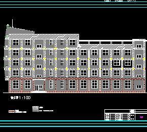 5层船型办公楼建筑施工图纸