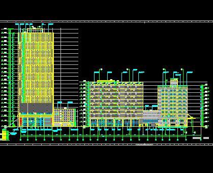 22层四星级酒店建筑施工图纸