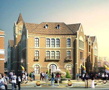 某欧式商业街楼群建筑施工图纸