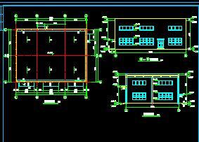 门卫室、公厕、锅炉房建筑施工图纸