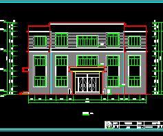 三层砖混结构办公楼建筑设计图纸