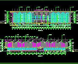 某5层汽车客运站全套施工图纸(建筑结构水电暖)