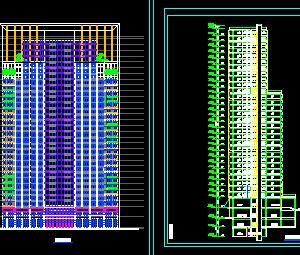 31层综合楼建筑设计图纸