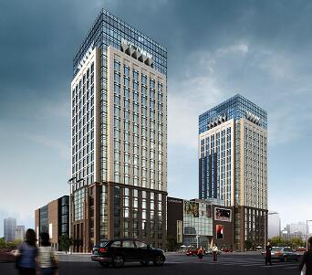 高层商业综合广场全套施工图纸(含建筑结构水电暖)