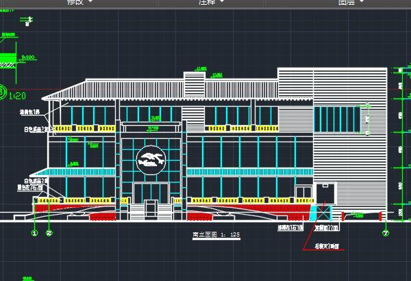 四层框架结构综合楼建筑施工图纸